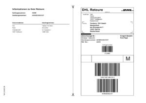 DHL Versandlabel Beispiel